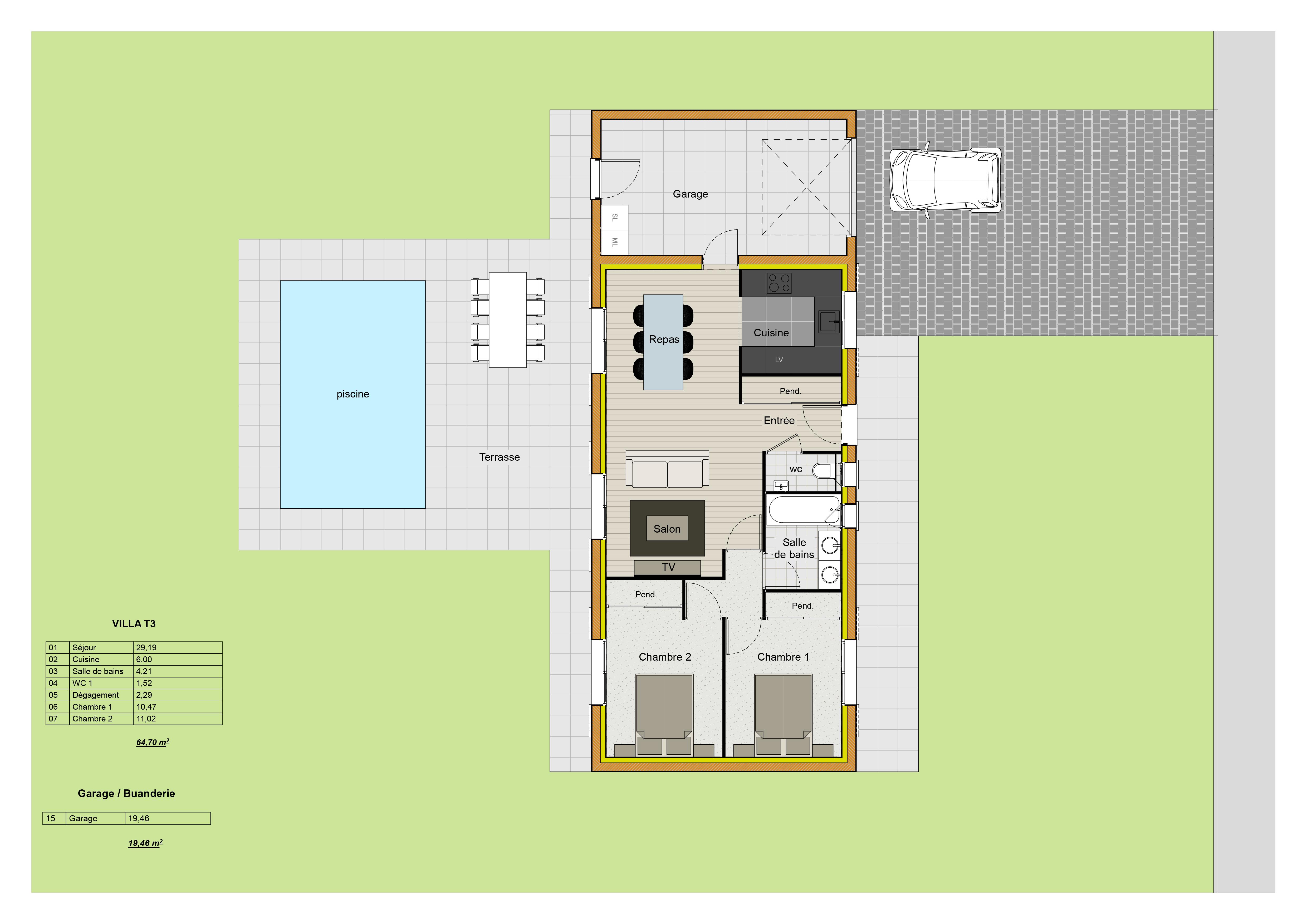 Plan villa adonis maison 3d for Mon plan de maison parfait